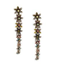 Cara - Metallic Daisy Linear Earrings - Lyst