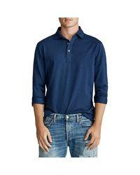 Ralph Lauren Blue Custom Slim-fit Mesh Shirt for men