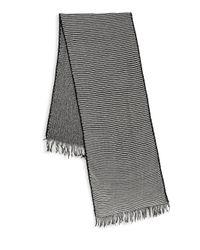 Donni Charm - Black Skinny Stripe Scarf - Lyst