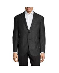 Corneliani Gray Classic-fit Wool & Silk Donegal Tweed Suit Jacket for men