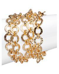 Trina Turk - Metallic Goldtone Multi-row Link Bracelet - Lyst