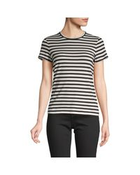 Vince Natural Striped Cotton Tee
