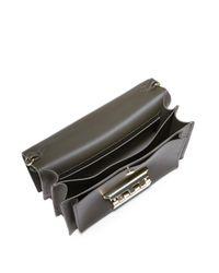 Zac Zac Posen Green Earthette Accordion Leather Shoulder Bag