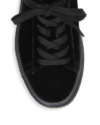 Vince Black Neela Lace-up Sneakers