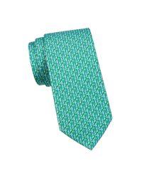 Ferragamo Multicolor Seahorse Silk Tie for men