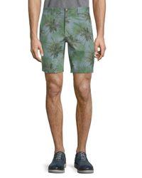Slate & Stone Green Novelty Ross Tropical-print Shorts for men