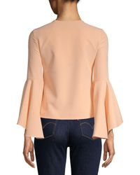 MILLY Multicolor Nicole Bell-sleeve Top