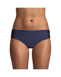 Calvin Klein Blue Ruched-side Bikini Bottom