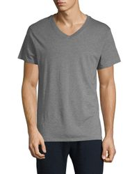 Alternative Apparel - Gray Perfect V-neck Cotton Tee for Men - Lyst