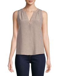 Joie Multicolor Fifi Silk Sleeveless Tunic Blouse
