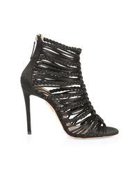 Aquazzura Black Goddess Strappy Sandals