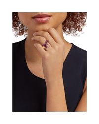 Effy Multicolor Women's 14k Rose Gold, Ruby & Diamond Floral Ring - Size 7