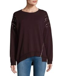 Joe's Jeans Purple Studded Cotton Sweater