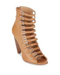 BCBGeneration Brown Alise Caged Sandals
