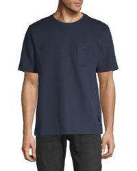 Fendi Blue Logo Short-sleeve Tee for men