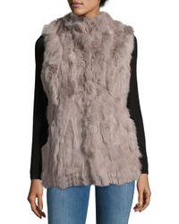 La Fiorentina Brown Dyed Rabbit Fur Sleeveless Vest