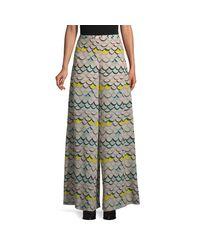 Missoni Multicolor Printed Wide-leg Silk Pants