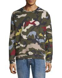 Valentino Multicolor Camouflage Long-sleeve Sweatshirt for men