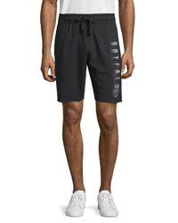 Buffalo David Bitton Black Hadel Whale Drawstring Shorts for men