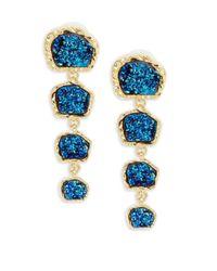 BaubleBar - Blue Tiered Drop Earrings - Lyst