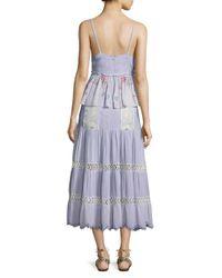 Hemant & Nandita Blue Floral Tiered Dress