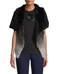 La Fiorentina Black Ombré Rabbit Fur Vest