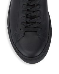 Givenchy Black Leather Low-top Sneakers for men