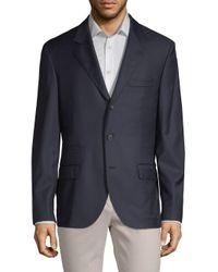Brunello Cucinelli Blue Notch Lapel Wool Sportcoat for men