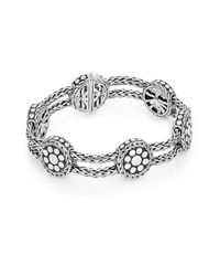 John Hardy Metallic Dot Sterling Silver Rope & Disc Bracelet