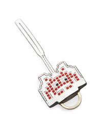Anya Hindmarch Red Space Invader Key Fob
