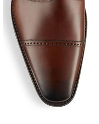 Saks Fifth Avenue - Brown Lace-up Leather Oxfords for Men - Lyst