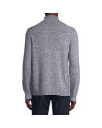 Vince Metallic Wool & Cashmere Quarter-zip Sweater for men