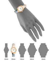 Ted Baker Metallic Floral Mother-of-pearl Analog Fashion Watch