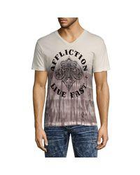 Affliction Multicolor Logo Graphic Cotton Tee for men