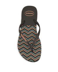 Havaianas Black Slim Zigzag Flip Flops