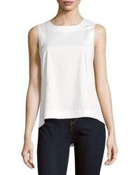 Lafayette 148 New York - White Melina Solid Sleeveless Top - Lyst