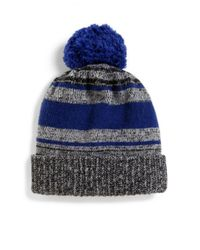 Saks Fifth Avenue - Gray Marled Knit Wool-blend Hat for Men - Lyst