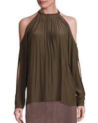607d0b8920ecb Gallery. Previously sold at  Saks OFF 5TH · Women s Corset Tops Women s Cold  Shoulder ...