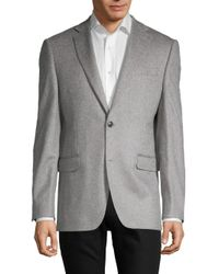 Saks Fifth Avenue Blue Cashmere Blazer for men