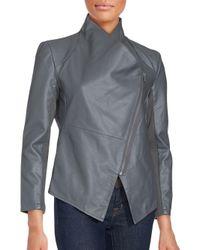Saks Fifth Avenue - Gray Long Sleeve Front Zip Jacket - Lyst