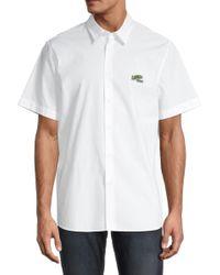 Lacoste Men's Short-sleeve Shirt - White - Size 44 (17.5) for men