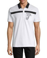 Versace - White Cotton Logo Polo for Men - Lyst