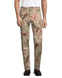 Valentino Multicolor Printed Cotton Pants for men