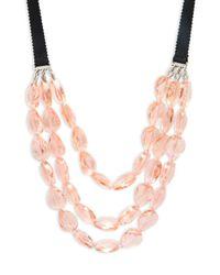 BaubleBar - Pink Stassi Layered Collar Necklace - Lyst
