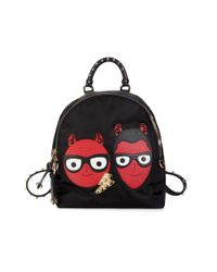 Dolce & Gabbana Women's Graphic Backpack - Black