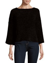 Saks Fifth Avenue - Black Chenille Slouch Sweater - Lyst