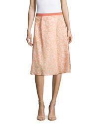 Max Mara Pink Lindsey Floral-print Skirt