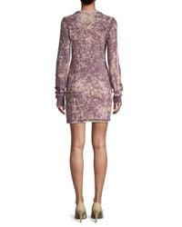 Cotton Citizen Blue Toyko Long-sleeve Cotton Mini Dress