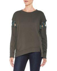 Joe's Jeans - Gray Alice Cotton Sweatshirt - Lyst