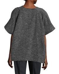 Zero + Maria Cornejo   Gray Saban Oversized Short-sleeve Jacket   Lyst